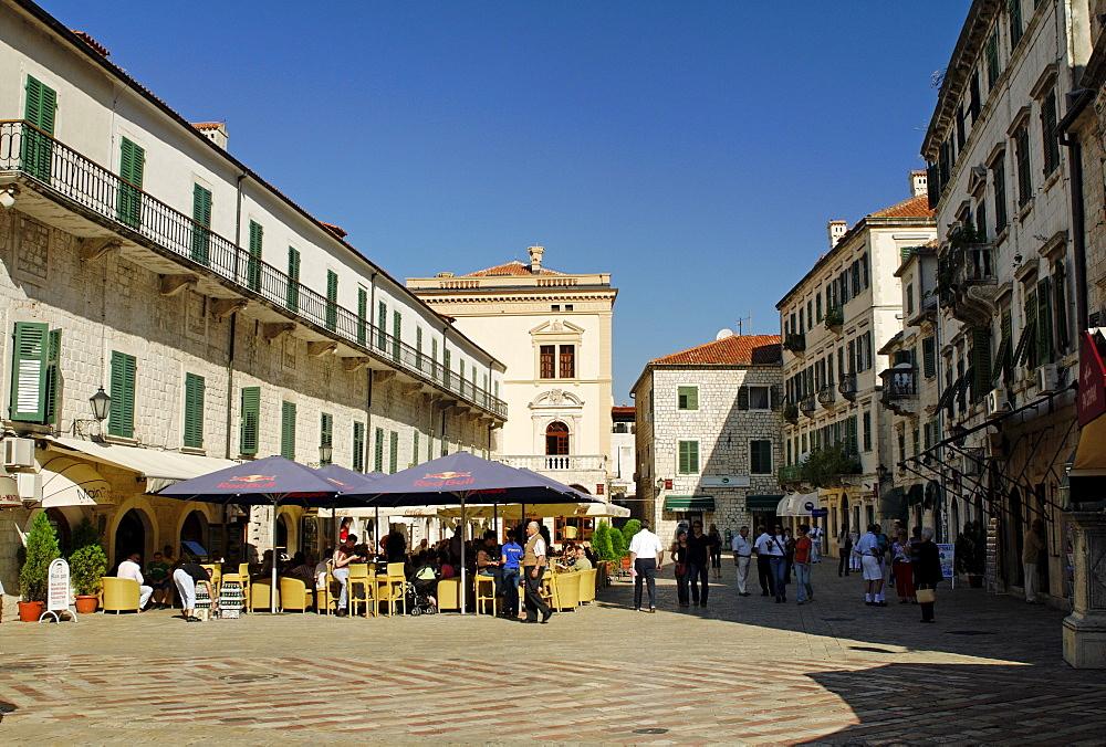 Historic city centre of Kotor, UNESCO-World Heriage Site Gulf of Kotor, Montenegro, Crna Gora, Balkans, Europe