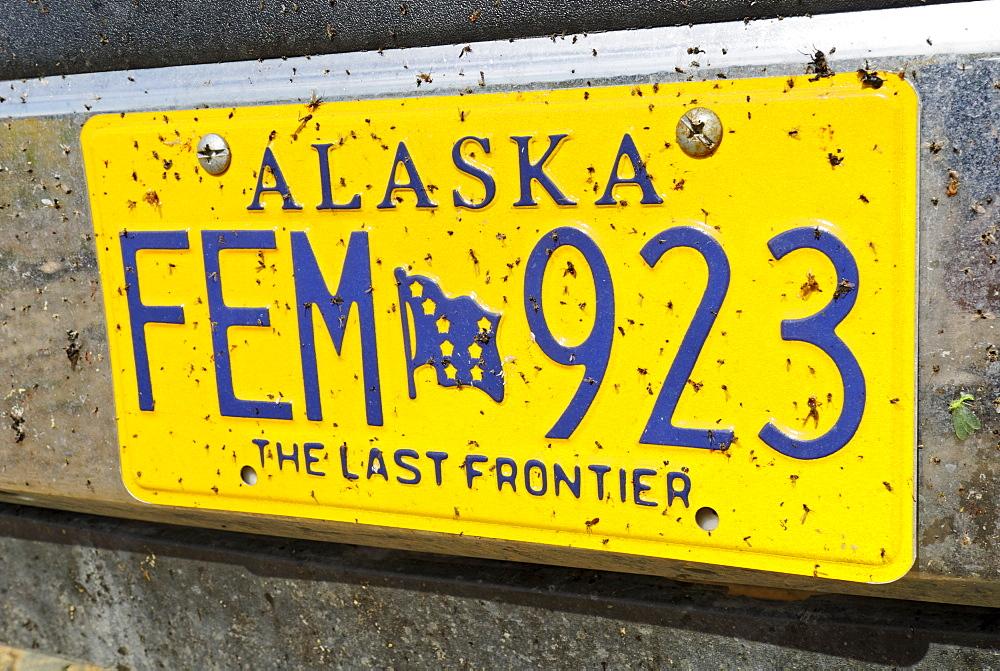 Alaskan licence plate, Alaska, USA