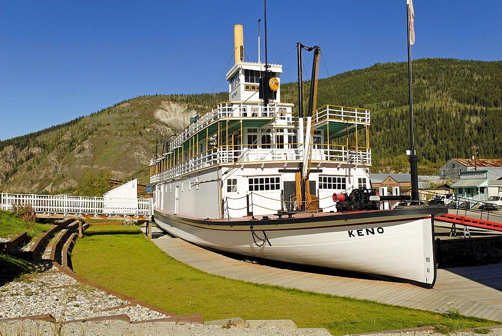 Keno, historic paddle steamer, Yukon Territory, Canada