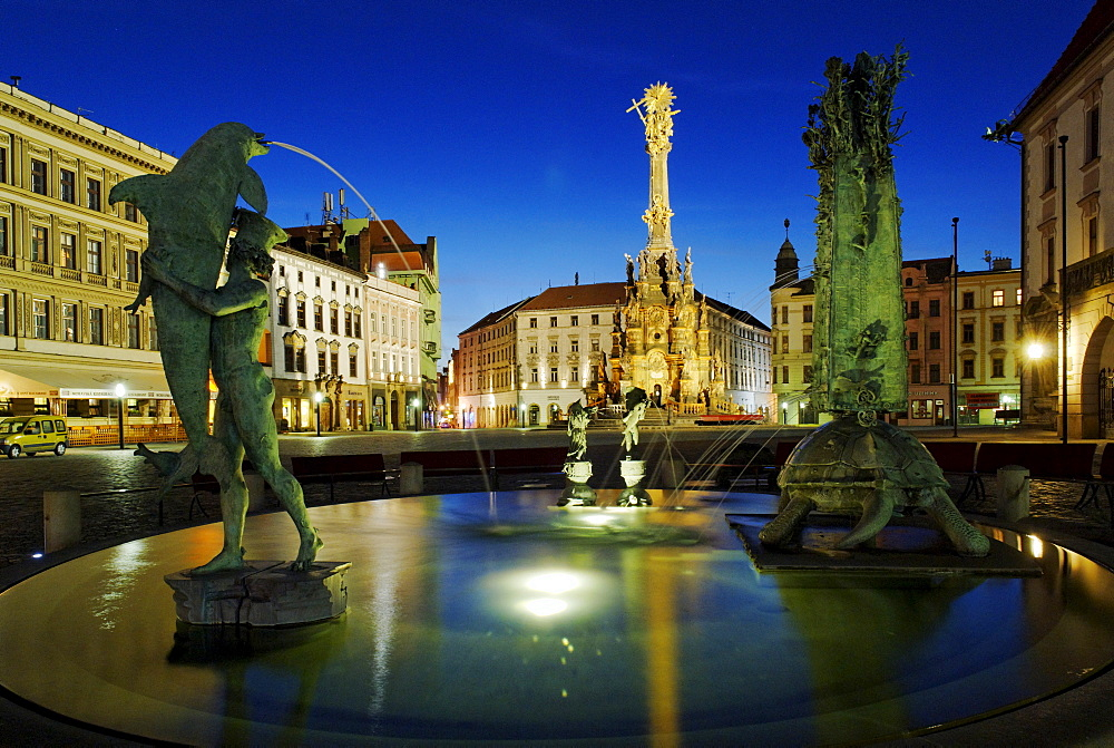 UNESCO World Heritage Site Plague column, Olomouc, Northern Moravia, Czech Republic, Europe