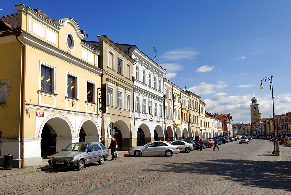 Historic town square, Litomysl, Eastern Bohemia, Czech Republic, Czechia, Europe