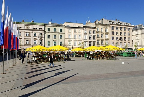 Rynek Krakowski, Main Market Square, UNESCO World Heritage Site, Krakow, Poland, Europe