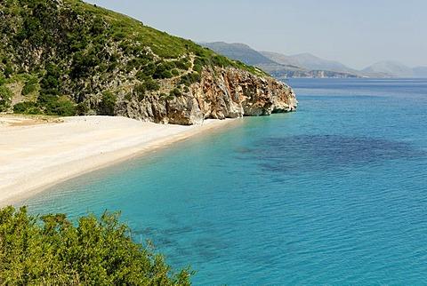 Ionian Sea, coast at Dhermi, Alabanian Riviera, Albania, Europe