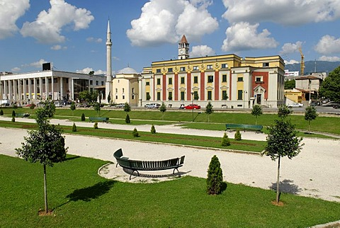Skanderbeg Square in Tirana, Albania, Europe