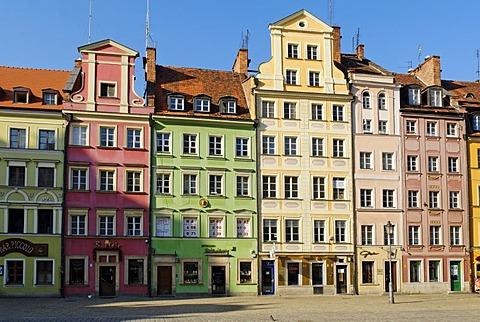 Market square or Rynek, Wroclaw, Silesia, Poland, Europe