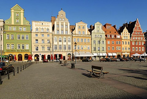 Plac Solny Market Square on the Rynek or main square of Wroclaw, Silesia, Poland, Europe
