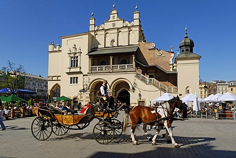 Cloth Hall, Drapers' Hall, Sukiennice on the main market square, Rynek, of Krakow, Poland, Europe