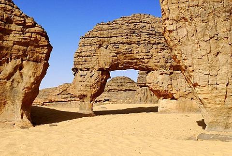 Rock, stone formation, Youf Ahakit, Tassili du Hoggar, Wilaya Tamanrasset, Algeria, Sahara, North Africa