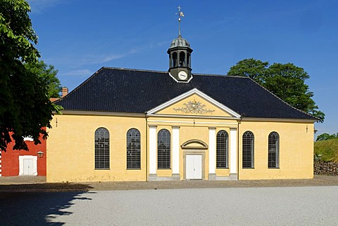 Historic military church on the fortified island of Kastellet, Copenhagen, Denmark, Scandinavia, Europe