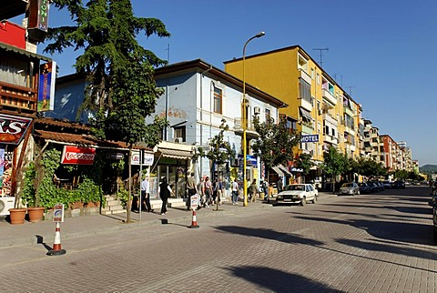 Zogu i Pare shopping street, Tirana, Albania, the Balkans, Europe