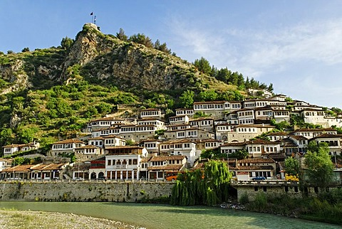 Historic centre of Berat on the Osum River, UNESCO World Heritage Site, Albania, the Balkans, Europe