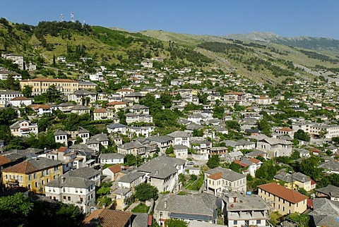 Historic centre of Gjirokaster, UNESCO World Heritage Site, Albania, the Balkans, Europe