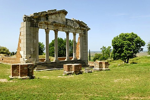 Apollonia ancient Greek archeological excavation, Albania, the Balkans, Europe