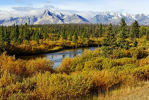 Jarvis River, Kluane National Park, UNESCO World Heritage Site, Yukon, Canada, North America