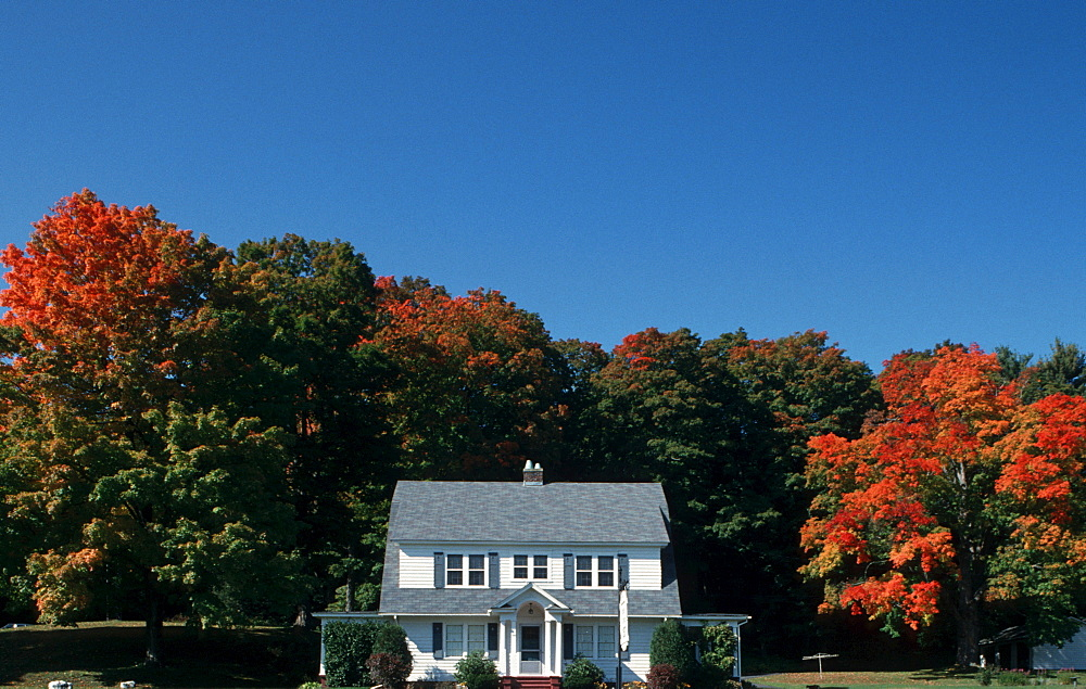 House, Mohawk Trail, Massachusetts, USA