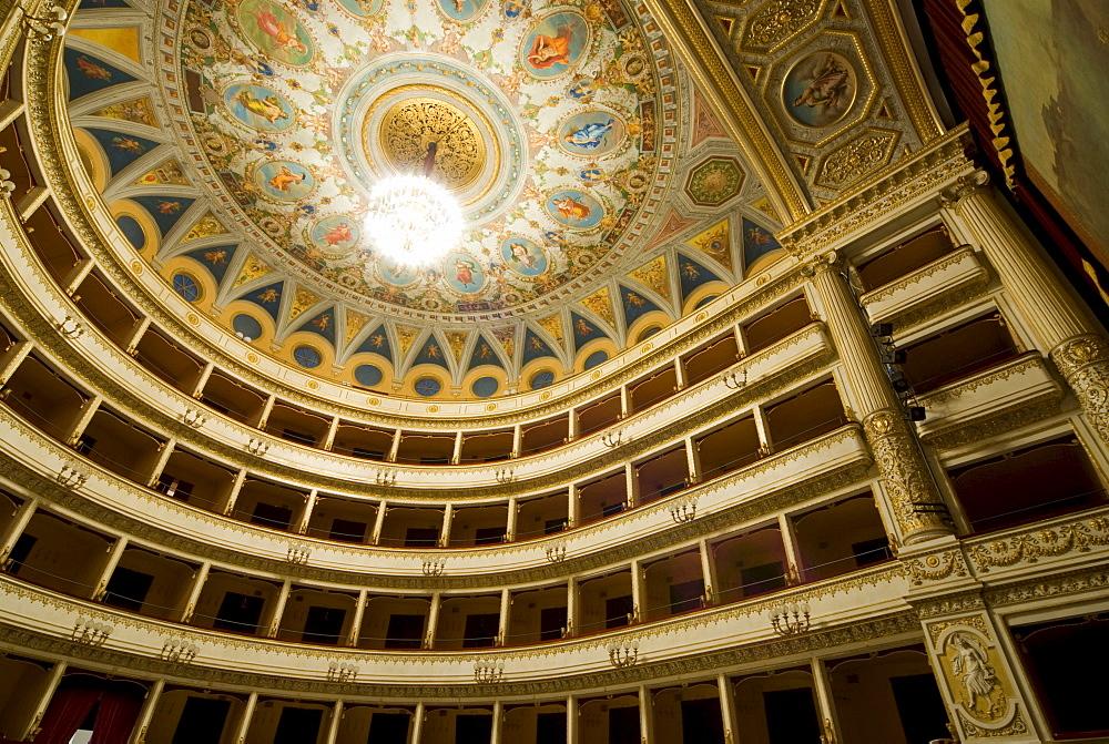 Interior of Orvieto Theatre, Orvieto, Umbria, Italy, Europe
