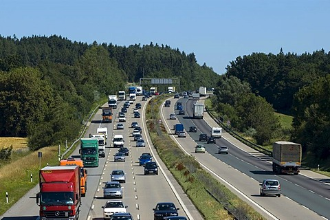 Freeway, Highway, traffic, Bavaria, Germany,