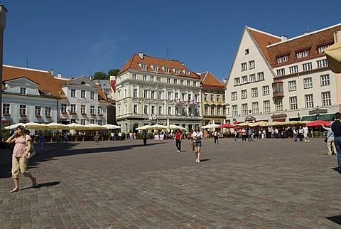 Townhall square with Pepper Restaurant Friedrich and Maikhrav, Tallinn, Estonia