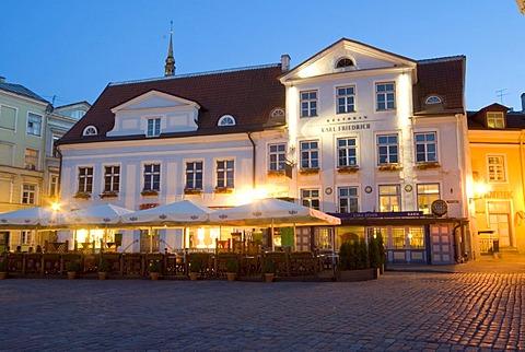 Pepper Restaurant Friedrich at night, Tallinn, Estonia