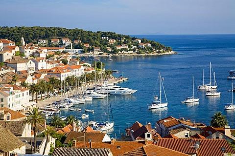 Harbour of Hvar, Island Hvar, Dalmatia, Croatia