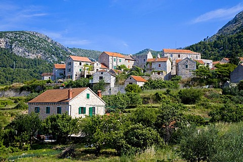 Small mountain village, Island Hvar, Dalmatia, Croatia