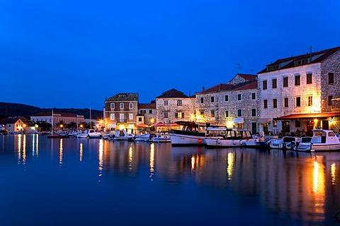 Harbour of Stari Grad, Island Hvar, Dalmatia, Croatia