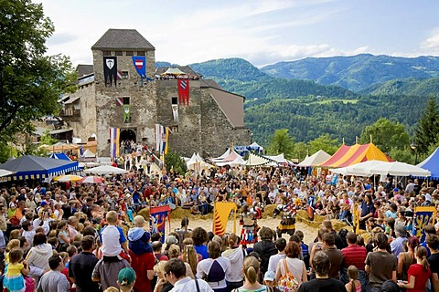 Knight's festival, Castle Oberkapfenberg, Kapfenberg, Styria, Austria