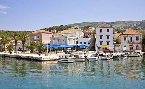 Harbour of Jelsa, Island Hvar, Dalmatia, Croatia