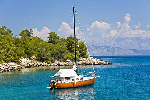 Small sailboat, Island Hvar, Dalmatia, Croatia