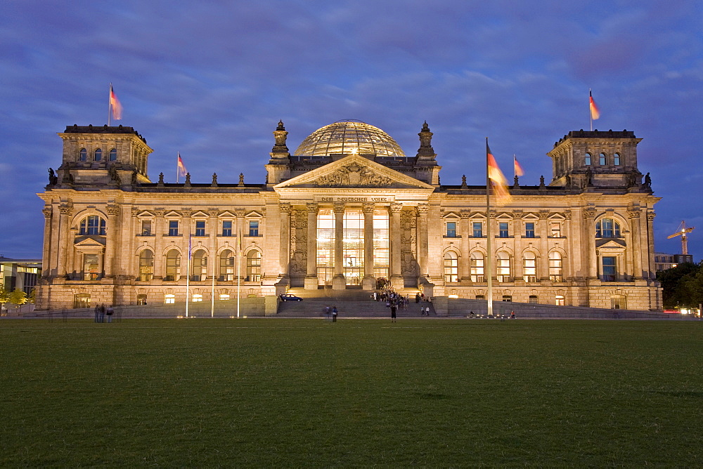 Reichstag with place of the republic, Berlin, Germany