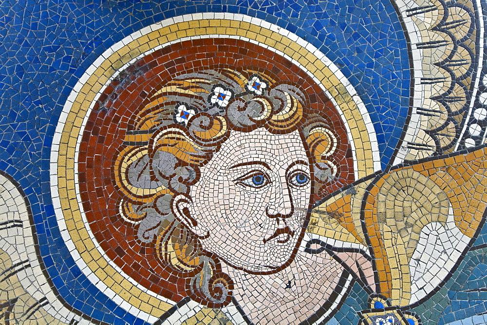 Women's mosaic in the Emperor Wilhelm Memorial church, Berlin, Germany