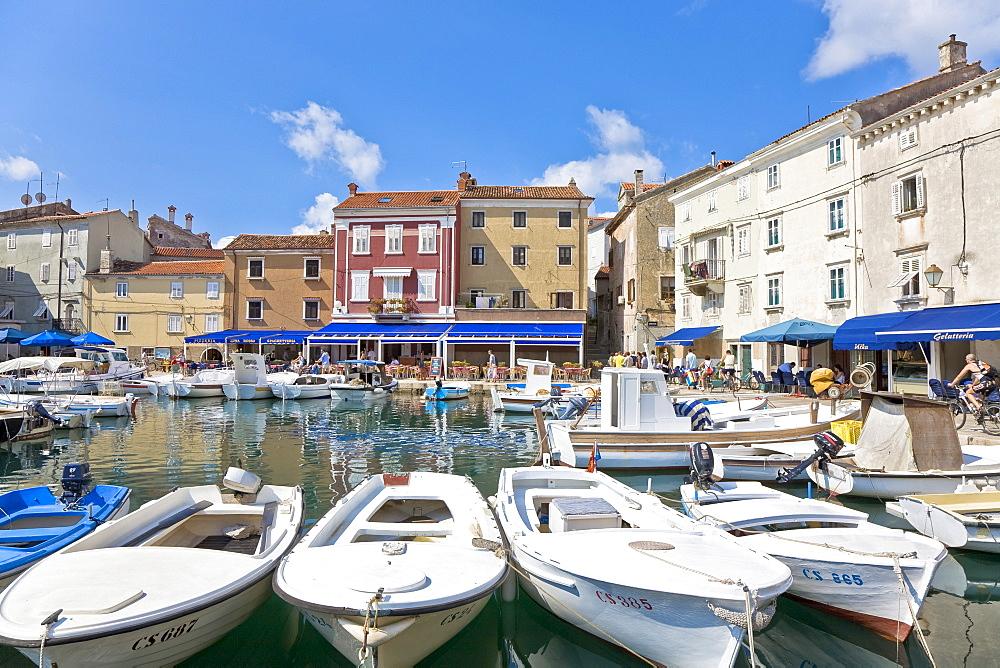 Harbour of Cres, island Cres, Primorje - Gorski kotar, Croatia