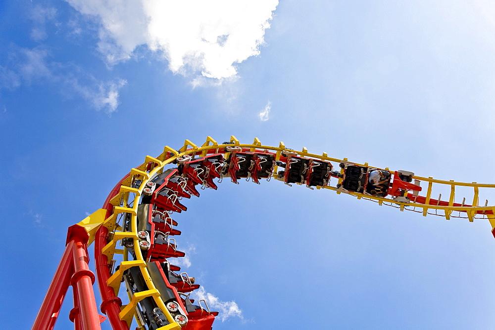 Roller coaster in the Prater Vienna Austria
