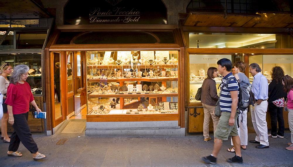 Bullion dealer Ponte Vecchio Florence Tuscany Italy