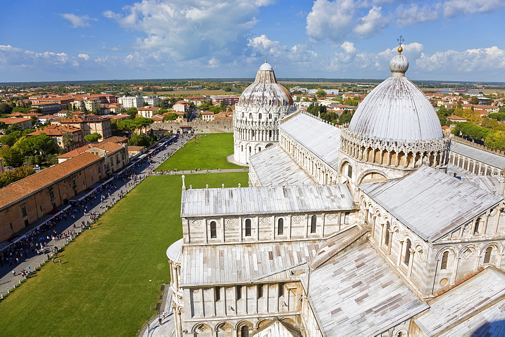 Baptistry and Cathedral Piazza dei Miracoli Pisa Tuscany Italy