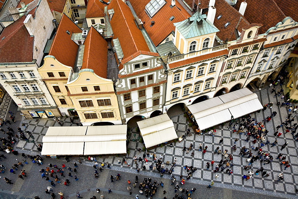 Houses in the old Town Square Prague Czechia