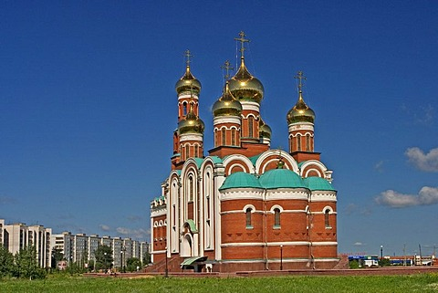 Christian Birth Church in Omsk, Omsk at the Rivers of Irtisch and Omka, Omsk, Sibiria, Russia, GUS, Europe,