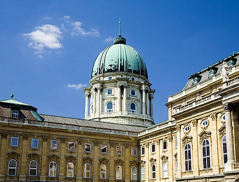Cupola of Castle, now Hungarian National Gallery, Budapest, Hungary, Southeast Europe, Europe,