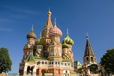 Mary's Protection Cathedral or Basilius Cathedral, Moscow, Russia, East Europe, Europe