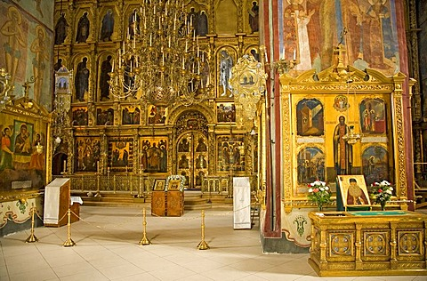 Interior of the Holy Spirit Church, Sergiyev Posad, Moscow Oblast, Russia