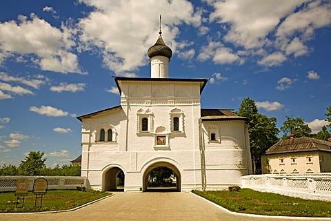 Saviour Monastery of St. Euthymius, entrance gate, Suzdal, Russia