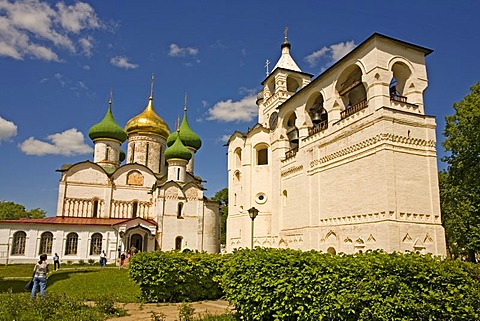 Saviour Monastery of St. Euthymius, Transfiguration Cathedral with bell tower, Suzdal, Russia