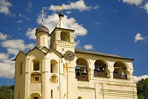 Bell tower, Transfiguration Cathedral, Saviour Monastery of St. Euthymius, , Suzdal, Russia