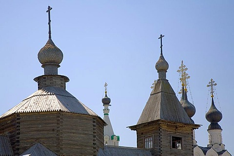 Towers of the Mary annunciation convemt, Murom, Russia