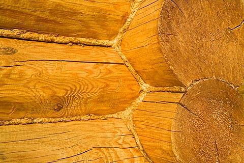 Wooden beam construction