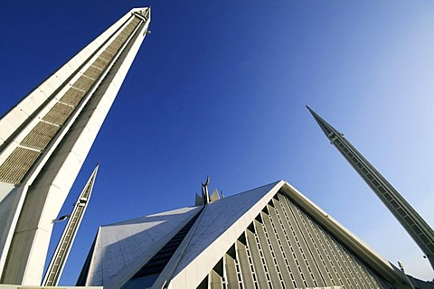 The Faisal Mosque in Islamabad, Pakistan
