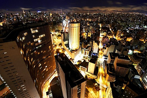 Skyline at night, Sao Paulo, Brazil