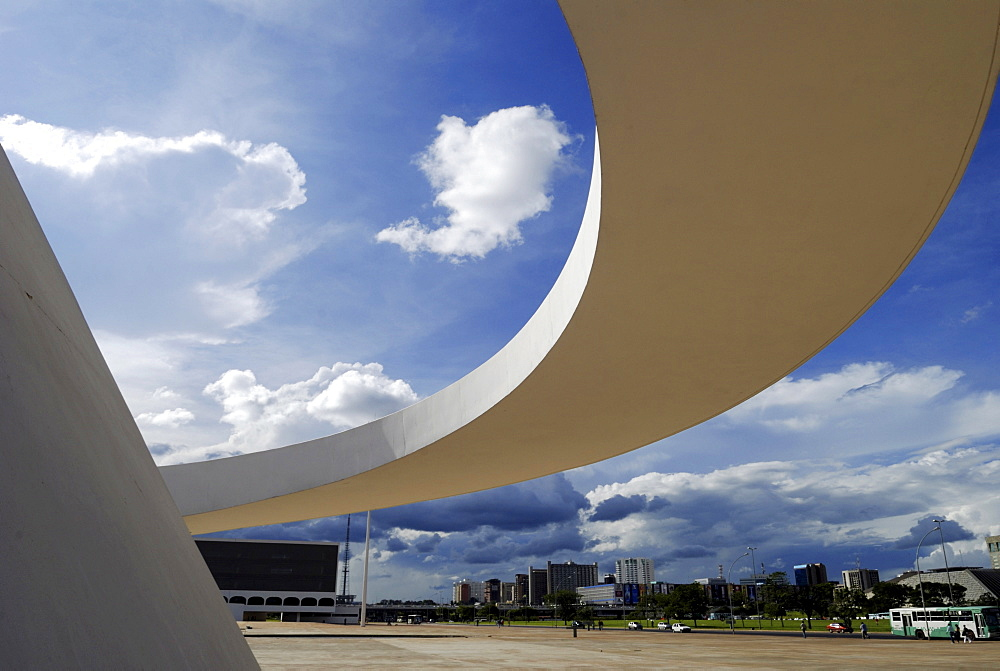 National Museum, Brasilia, Brazil. Architect: Oscar Niemeyer