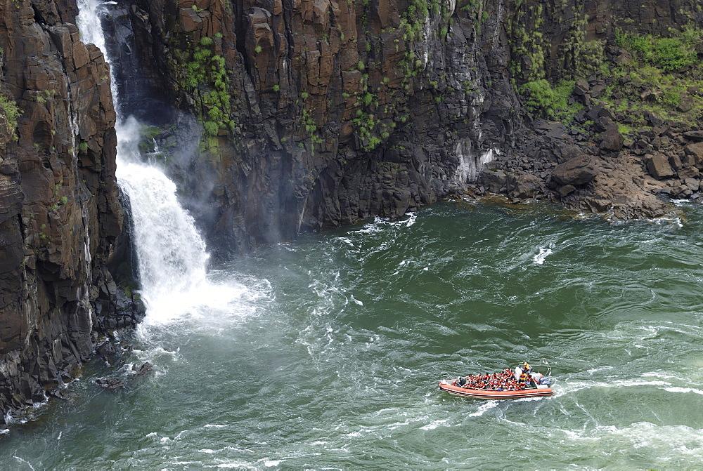 Rafting at the Iguazu Waterfalls, Brazil/Argentina