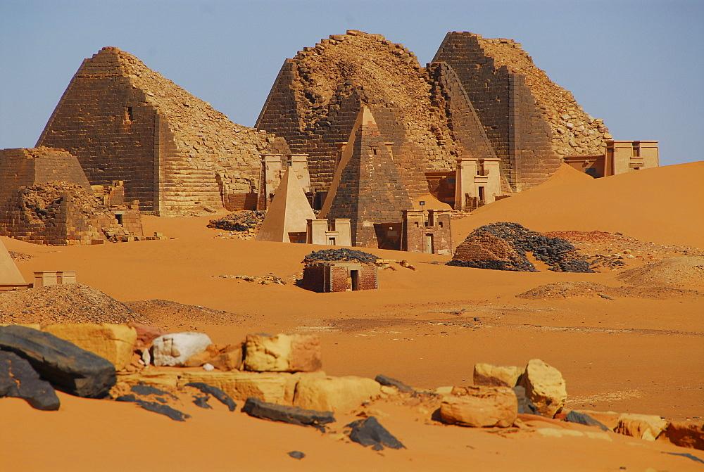 Pyramids, Meroe, Sudan